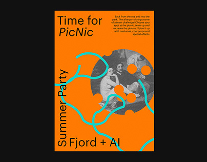 Posters for Fjord summer party