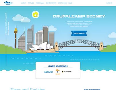 UI/UX design For Drupal Camp