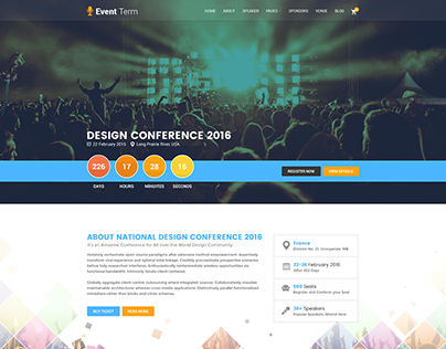 Event Term- Event & Conference PSD Template
