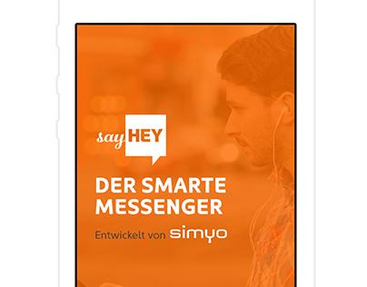 sayHEY messenger app