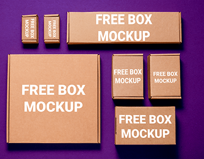 CORRUGATED BOX CARDBOX MOCKUP