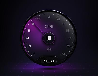 UI Gauge - Car Speedometer