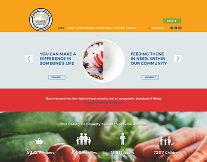 Gleaners Food Bank Website Design