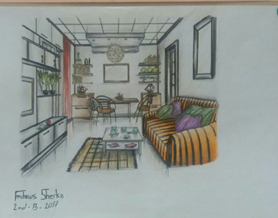 ONE POINT PERSPECTIVE DRAWING ||