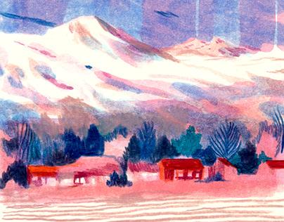 Mountains for Pen Club Française