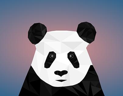 panda low poly