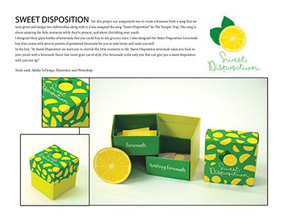 Sweet Disposition Lemonade Packaging
