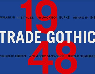 Monotype Trade Gothic Specimen