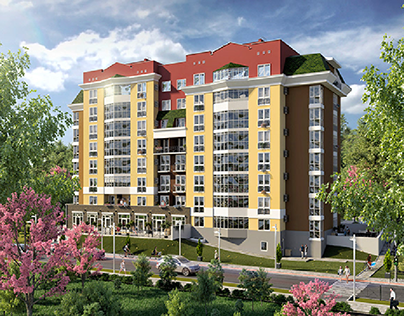 "3d render residential complex ""Kozatskiy"""