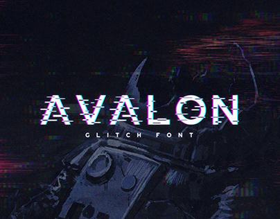 Avalon - Glitch Font