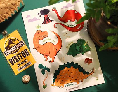 Stickers Dinovegeto