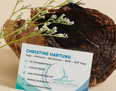 Graphic business card - Christine Hartung