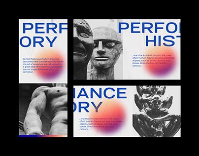 Modern art gallery poster