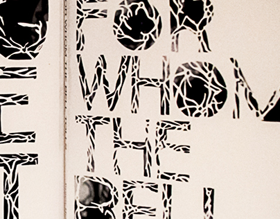 Papercut typographic book cover series