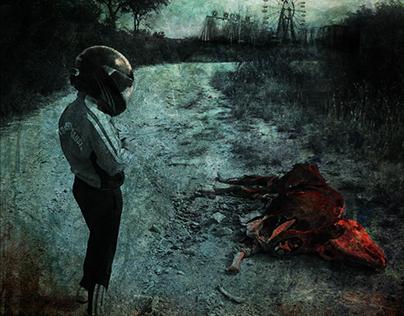 """Carnaval de sangre"" - Book cover art"