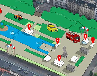 Event Map Illustration