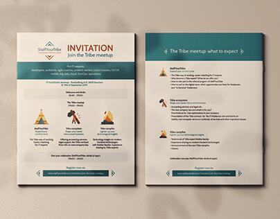 StaffYourTribe flyer design