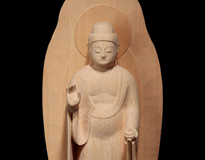 Unpainted Budhist statues 木地仕上げの御像