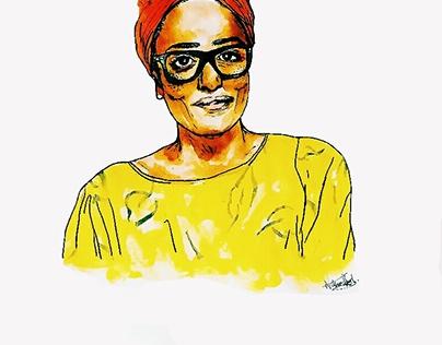 Zadie Smith illustration