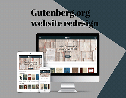 Gutenberg.org website redesign