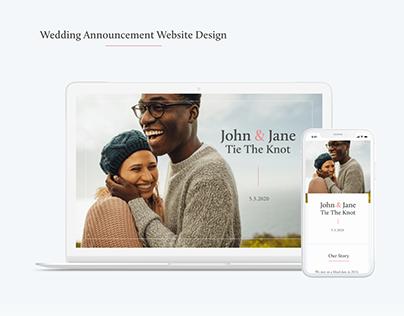 Wedding Announcement Web Design