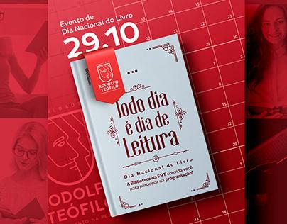 // comunicação visual - dia nacional do livro - FRT