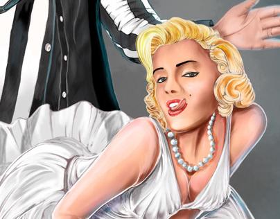 Marilyn Monroe & John F. Kennedy Digital Art