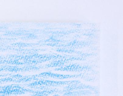 紙上染了藍