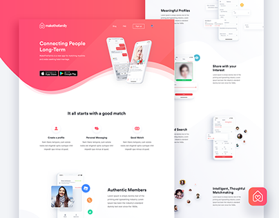 MakeTheFamily - Website Design