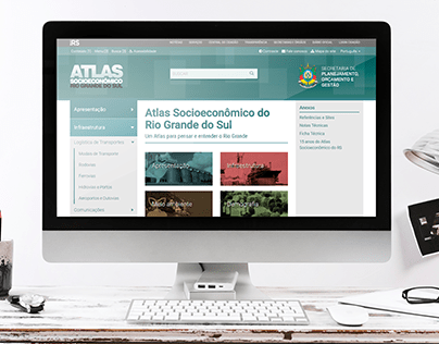 Website Atlas Socioeconômico RS