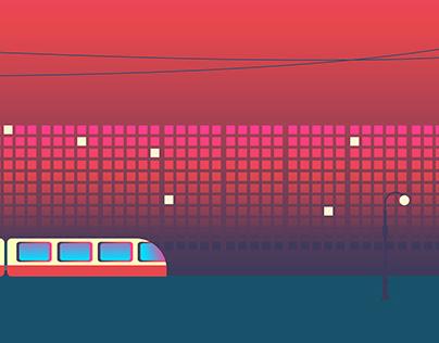 train animation