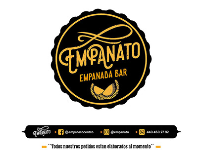 """Empanato""Empanada Bar Logotipo e Identidad de Marca"