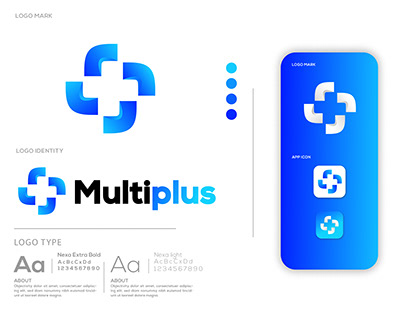 multiplus logo identity/modern logo desing