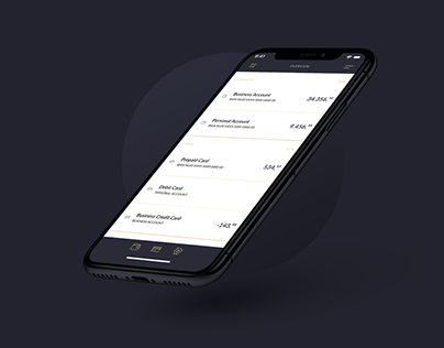 Free Figma banking app concept
