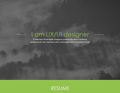 Responsive Web Resume (desktop/tablet/mobile)