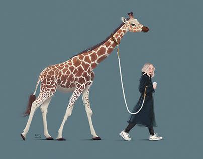 Tatum & pet Giraffe