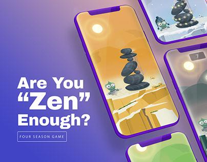 """""""Are You Zen Enough?"""" Mobile Game Concept"""