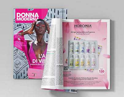Advertising page for Donna Moderna