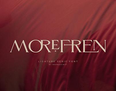 Morefren - Serif Ligature Font [FREE]