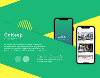 CoKeep Coworking Space App - Ios App Presentation