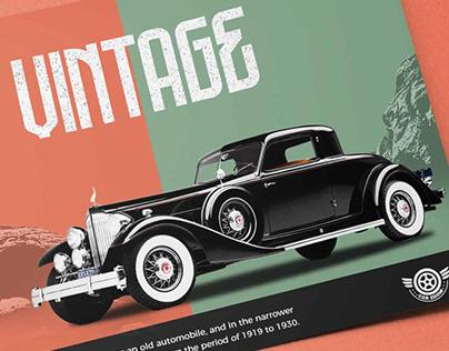 Vintage theme flyer design
