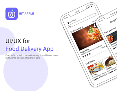 Food delivery app Case study - UX