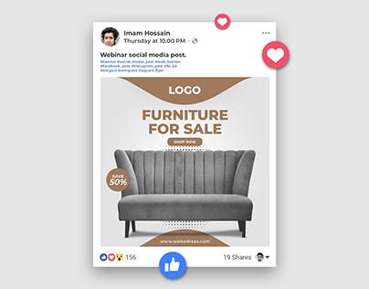 Furniture sale social media banner