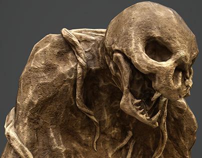 Rock Skeleton Monster (realtime 3D)