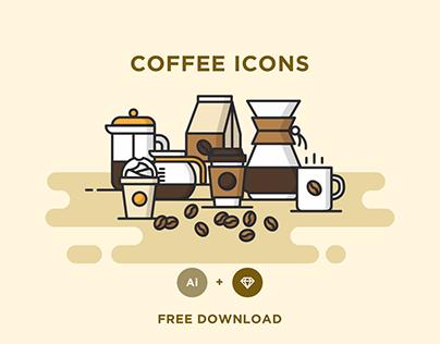 FREE - COFFEE ICONS