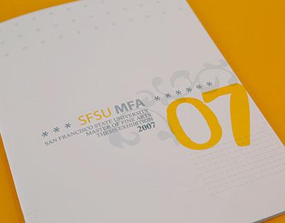 SFSU 2007 MFA Catalog