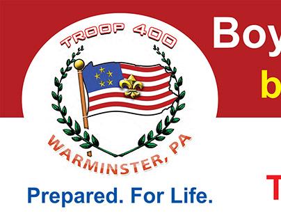 Boy Scout Troop 400 Outdoor Banner