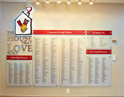 Ronald McDonald House - Milwaukee, Donor Recognition