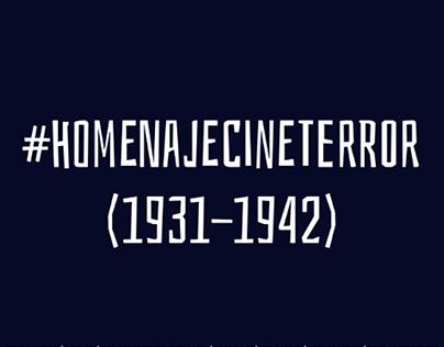 #HomenajeCineTerror