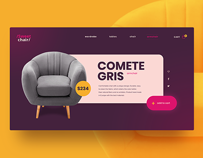 Sweetchair / e-commerce concept